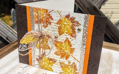 Perfect Fall Card with Gorgeous Leaves Bundle and Be Dazzling Paper!
