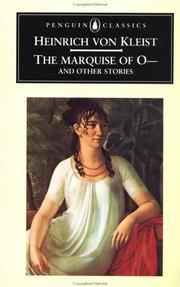 The Marquise of O- and Other Stories by Heinrich von Kleist