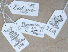 Alice in Wonderland food tags