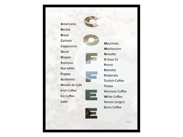 Coffee kaffe tavla poster
