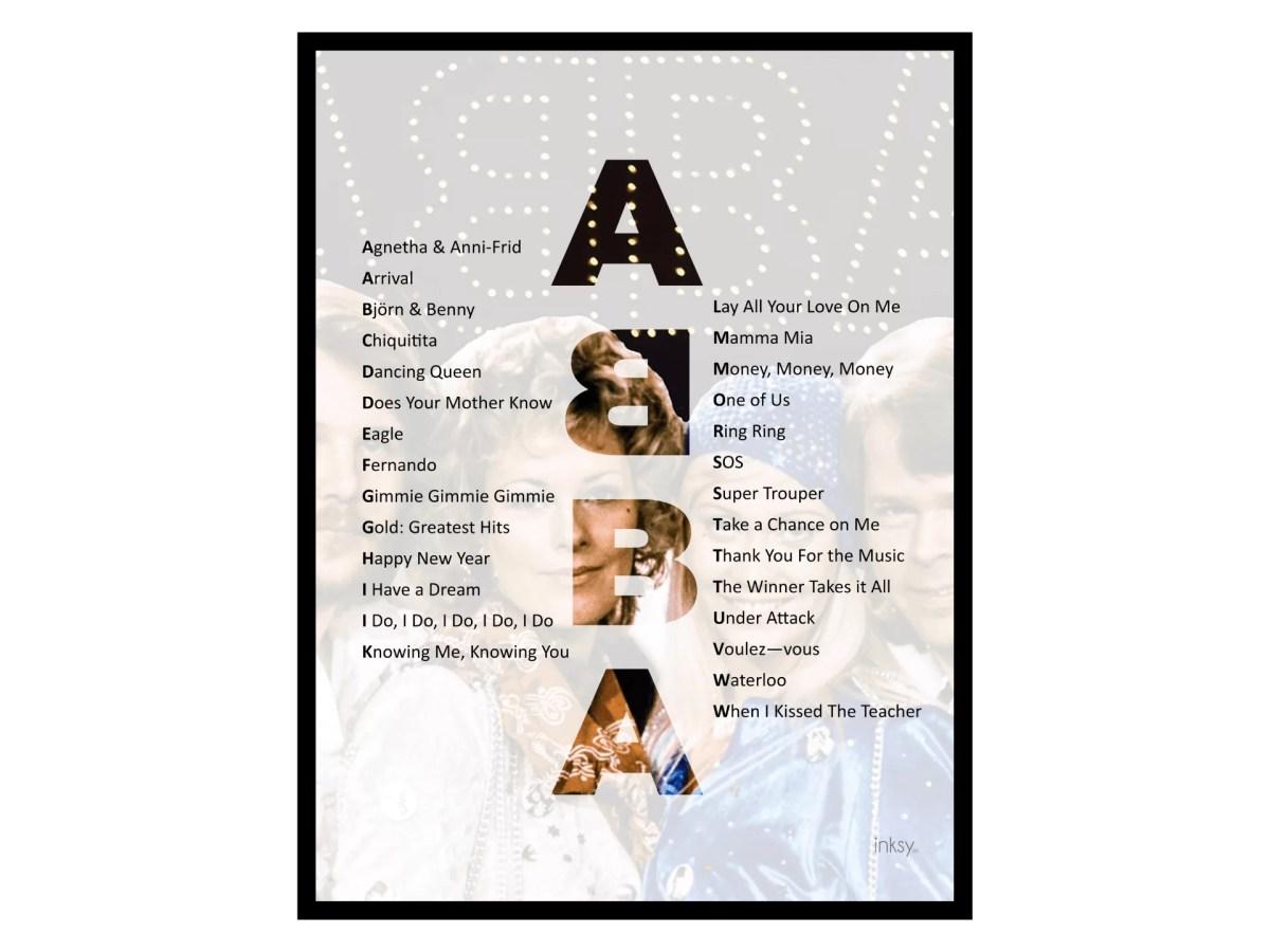 ABBA tavla poster