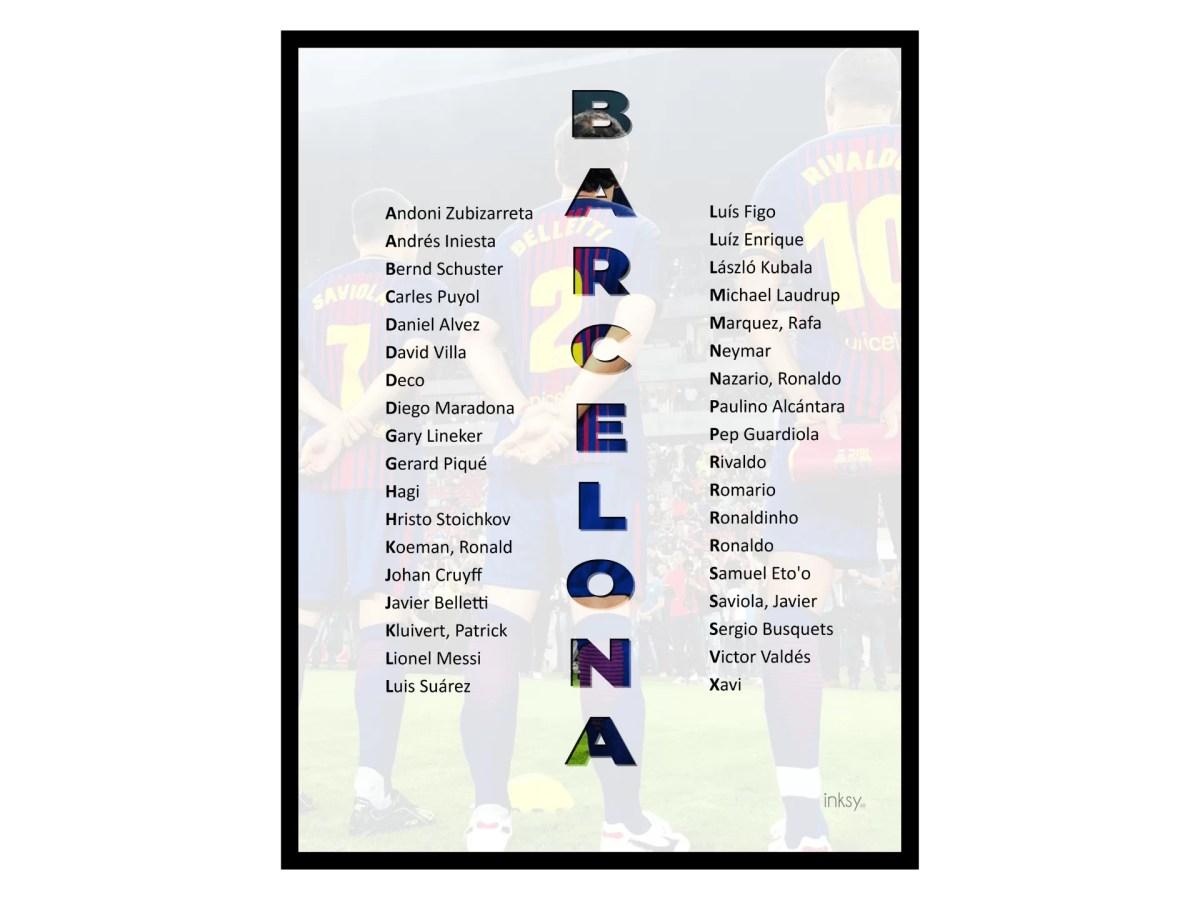 FC Barcelona tavla poster