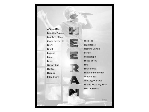 Ed Sheeran poster tavla