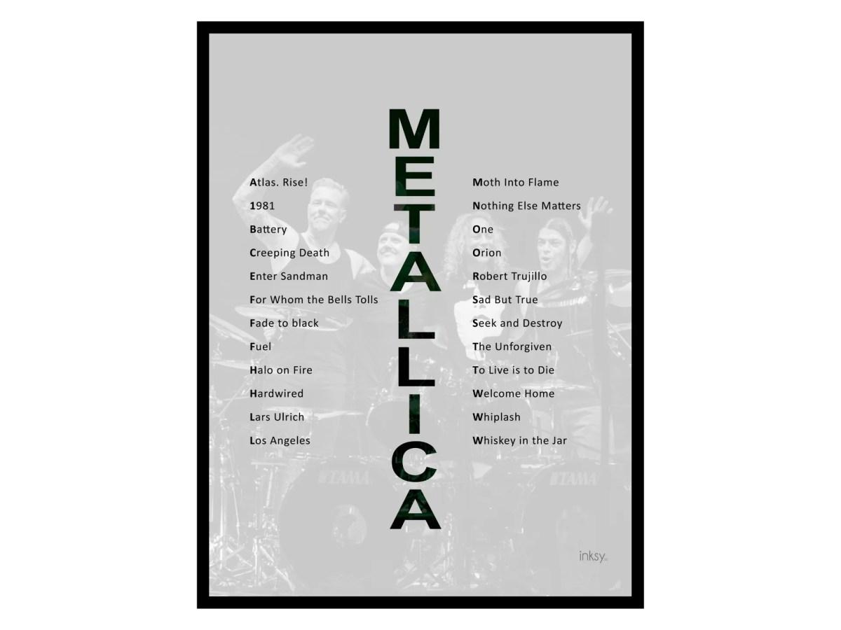 Metallica tavla poster