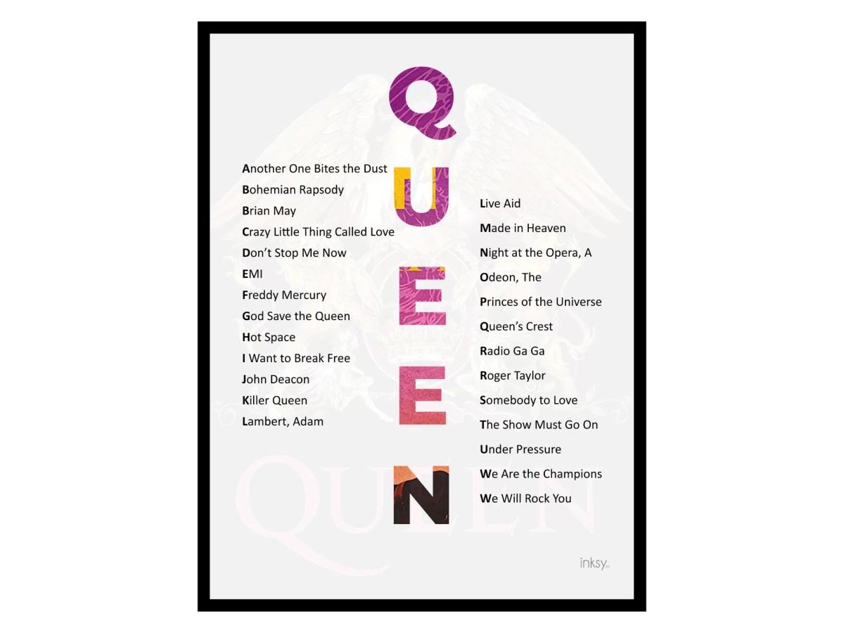 Queen tavla poster