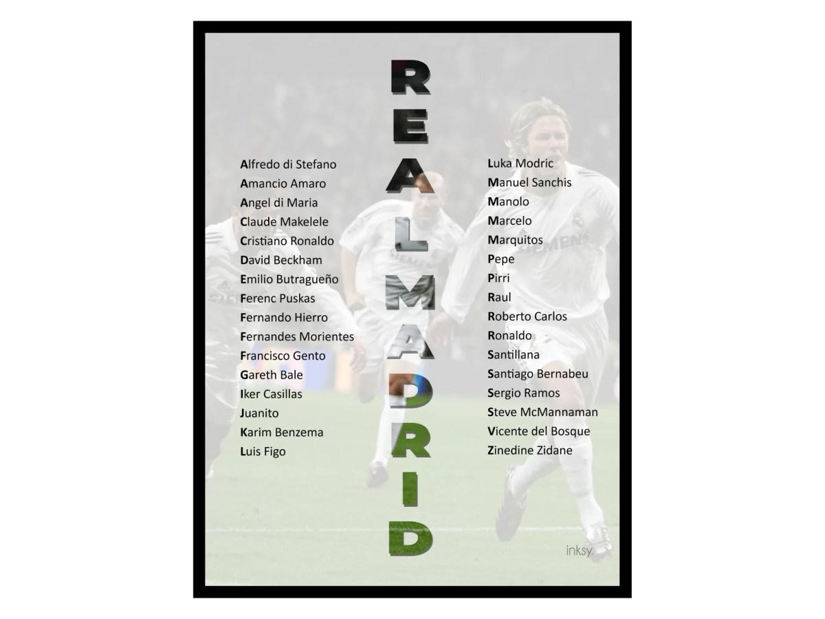 Real Madrid tavla poster