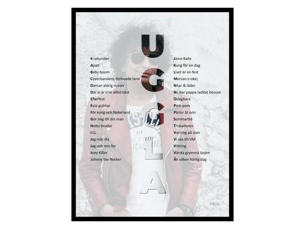 Magnus Uggla tavla poster