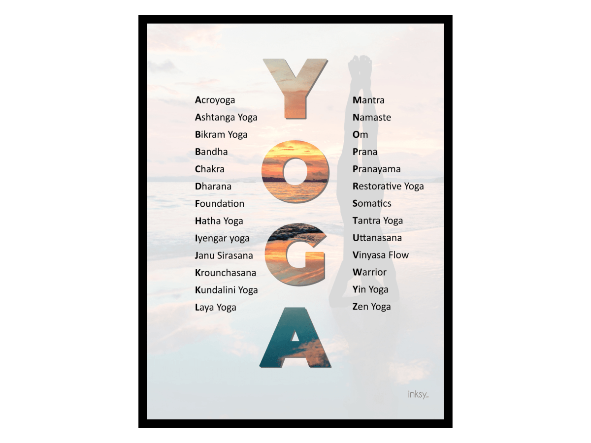Yoga tavla poster