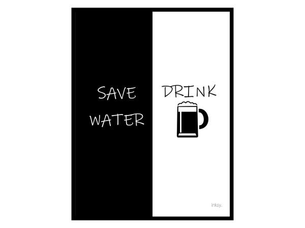 Save water drink beer poster tavla