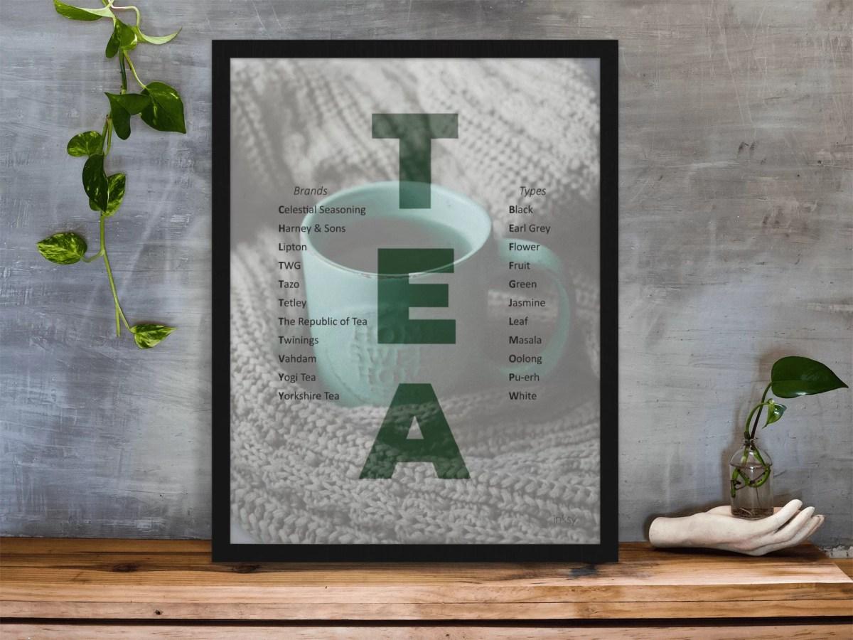 tea poster tavla
