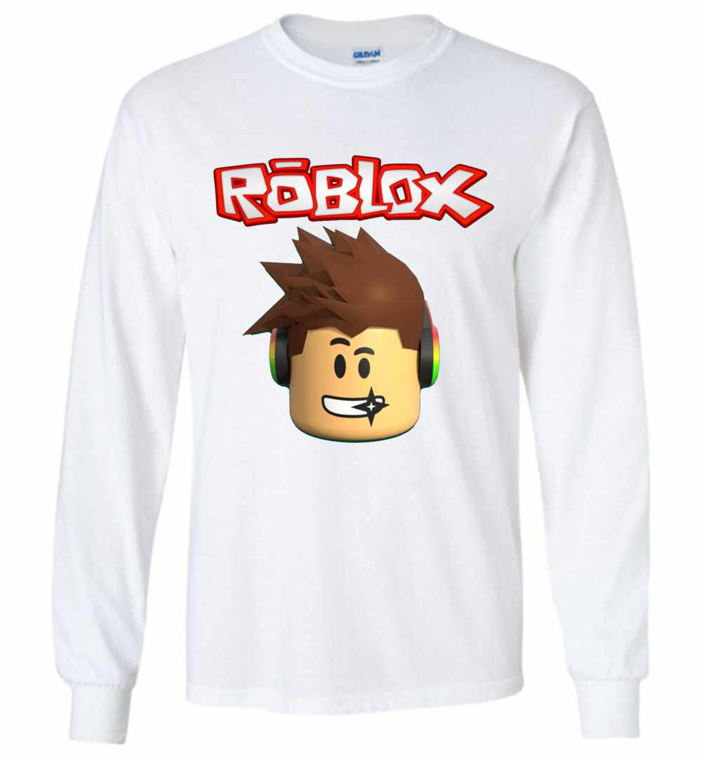 Roblox Character Head Long Sleeve T Shirt