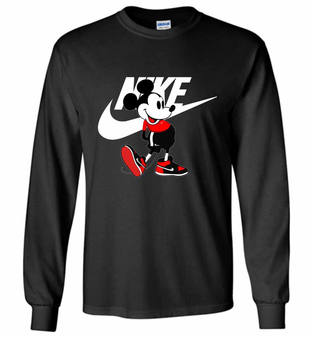 Brand-new Mickey Mouse Nike Long Sleeve T-Shirt LL45