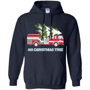 funny firefighter christmas gifts oh christmas tree hoodies amazon best seller