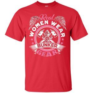 Firefighter Women Wear Bunker Gear Men's T Shirt Amazon Best Seller