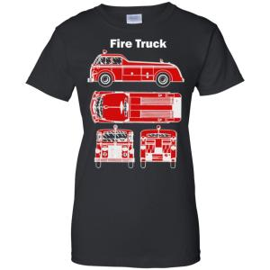 Fire Truck -1930s Vintage Fire Truck Design Women's T-Shirt