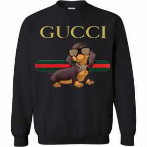 Dachshund with Gucci Sweatshirt