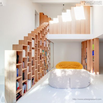 The Bookshelf House by Andrea Mosca