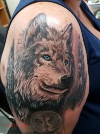 RACHEL wolf cover up