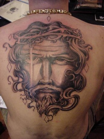 jesus-tattoo-on-back