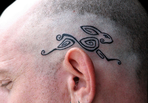 rabit-head-tribal-tattoo