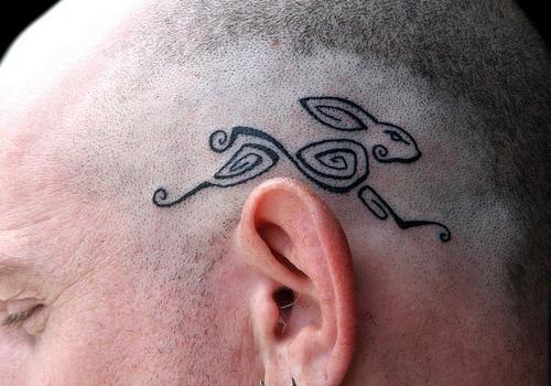 rabit-head-tribal-tattoo