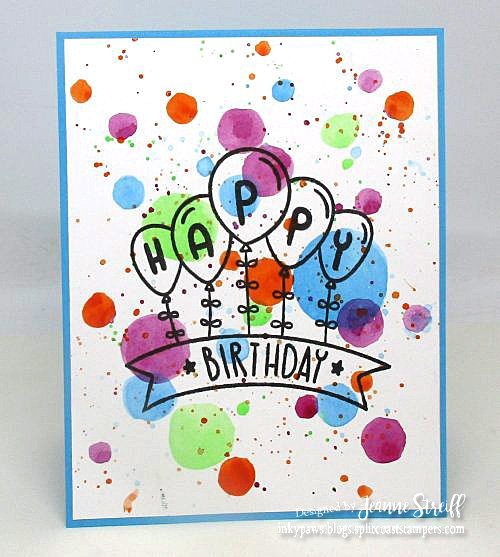 For The Second Version Of This Fun Birthday Card I Added Another Layer Balloons And Banner Quickly Easily Made A Wash Background On