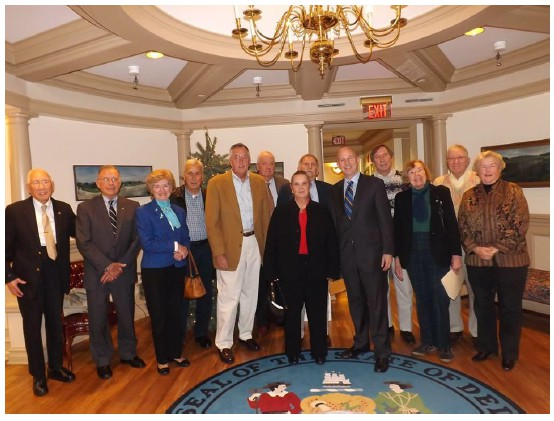 Fig. 4 Inland Bays Foundation meeting with Governor Jack Markell (photo by Dottie LeCates)
