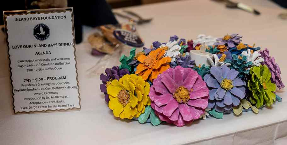 Centerpieces for each table were made by Frances Hart, Ann Jaeger, and Sallie Callenan.