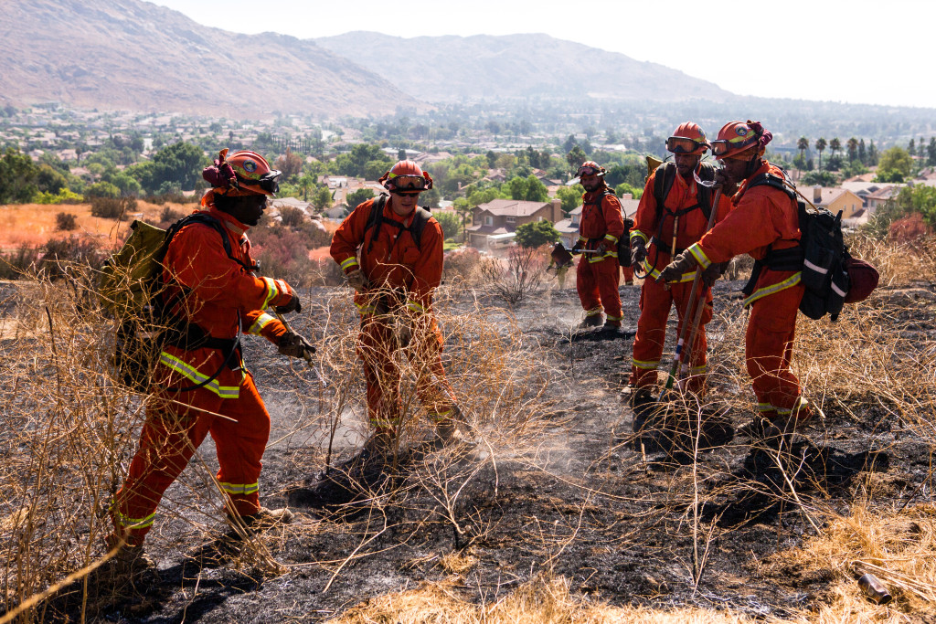 Blaine fire near Moreno Valley is almost fully contained