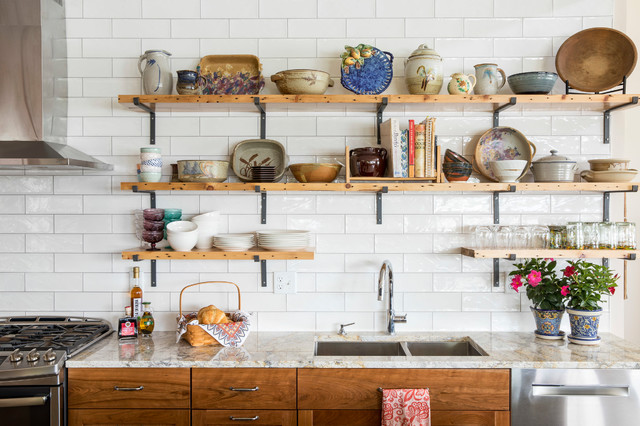 These Are the Best Things to Store on Open Kitchen Shelves (22 photos)
