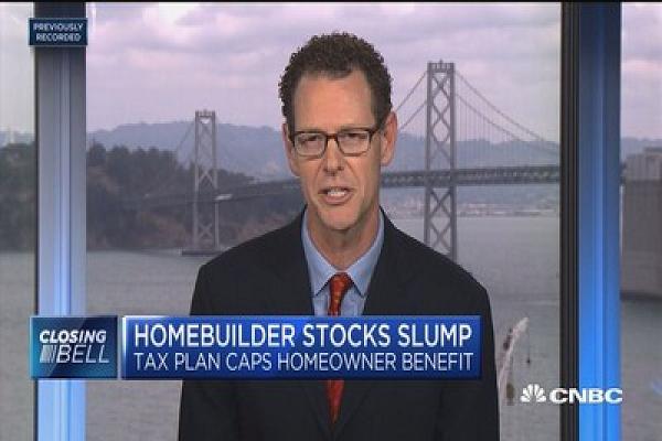 Home builder stocks slump on tax plan