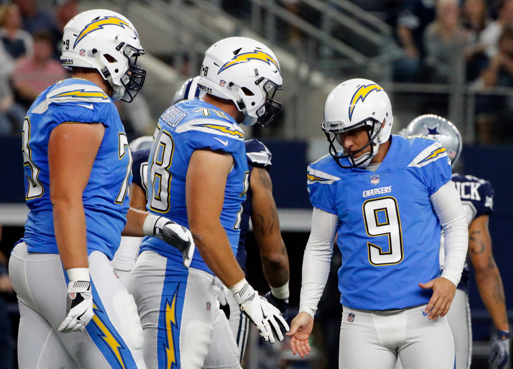 Chargers sign kicker Travis Coons to active roster, place Nick Novak on injured reserve