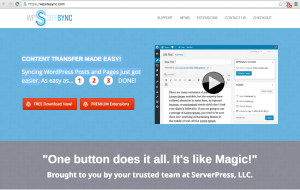 WP Site Sync Home Page