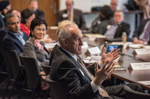 UC Riverside Chancellor Kim Wilcox and members of the Inland California Rising coalition meet with Governor staff, State Capitol. February 19, 2019.