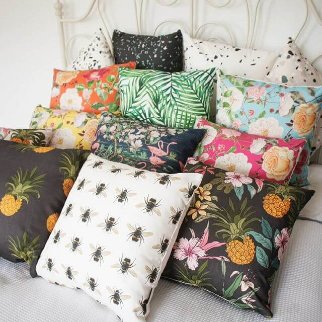 CUSHIONS NOW IN! Gorgeous designs 💛 www.inlehome.co.uk . . . #inlehome #homeware #lovecushions #pineapple #loveyourhome #tropical #lovewhatyoudo #floral #cushions #bee #artprintcushions #terrazzo #madeintheuk