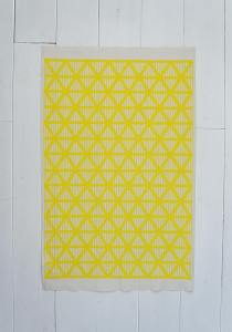 The Yellow Triangle Stripe Tea Towel