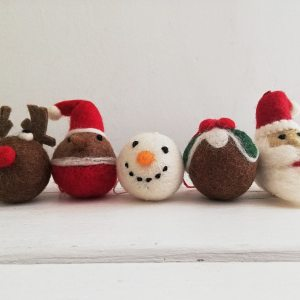 Assorted Felt Christmas Decorations