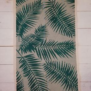 dark green palms tea towel