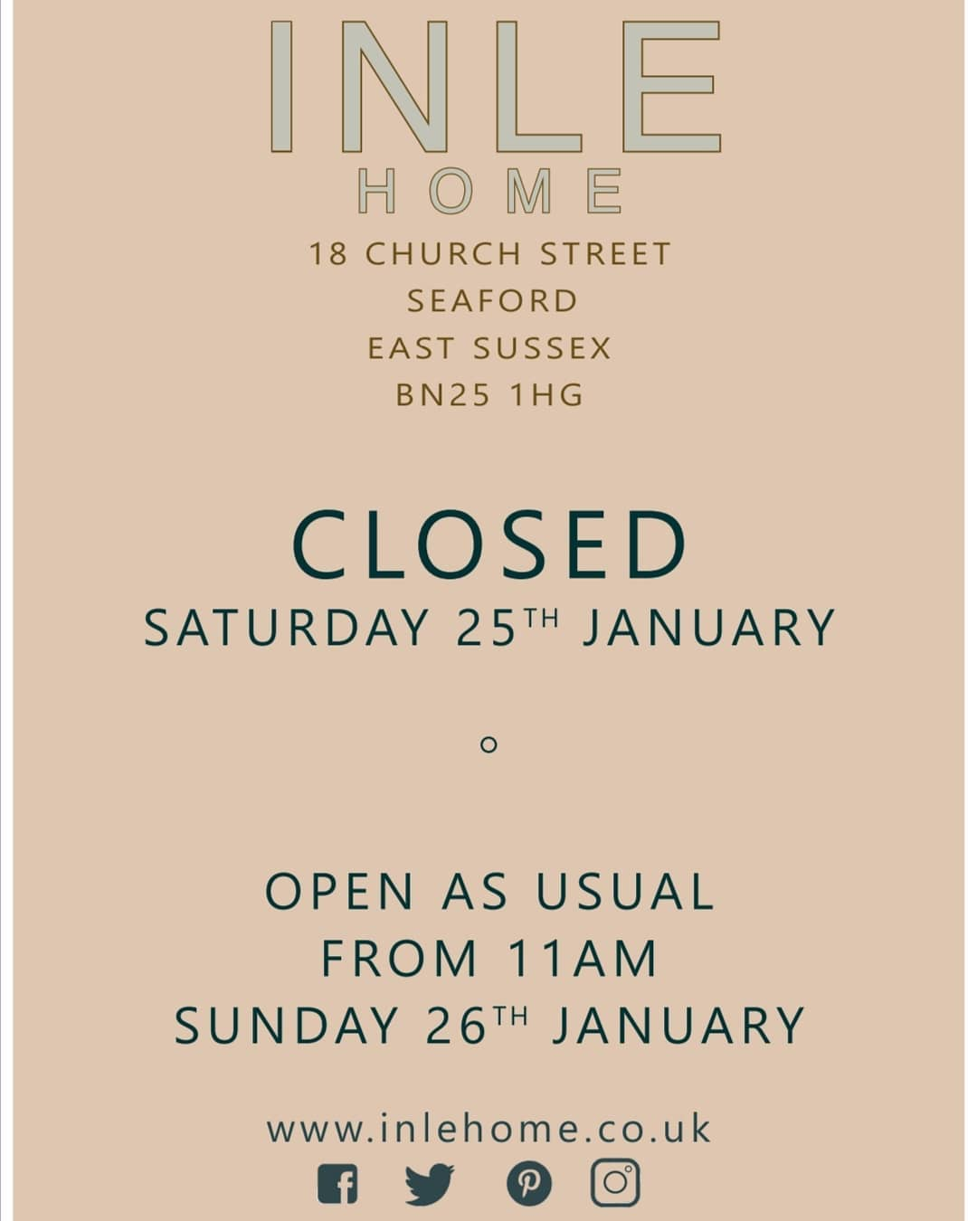 💚 Have had to close today guys but open as usual tomorrow from 11am 💚
