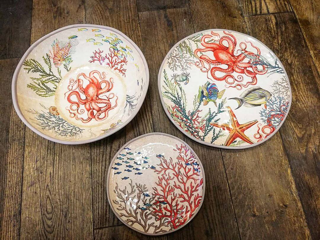 💚 These new sea life big bowls and platters are just gorgeous! Made from melamine so perfect for those picnics and barbeques in the summer