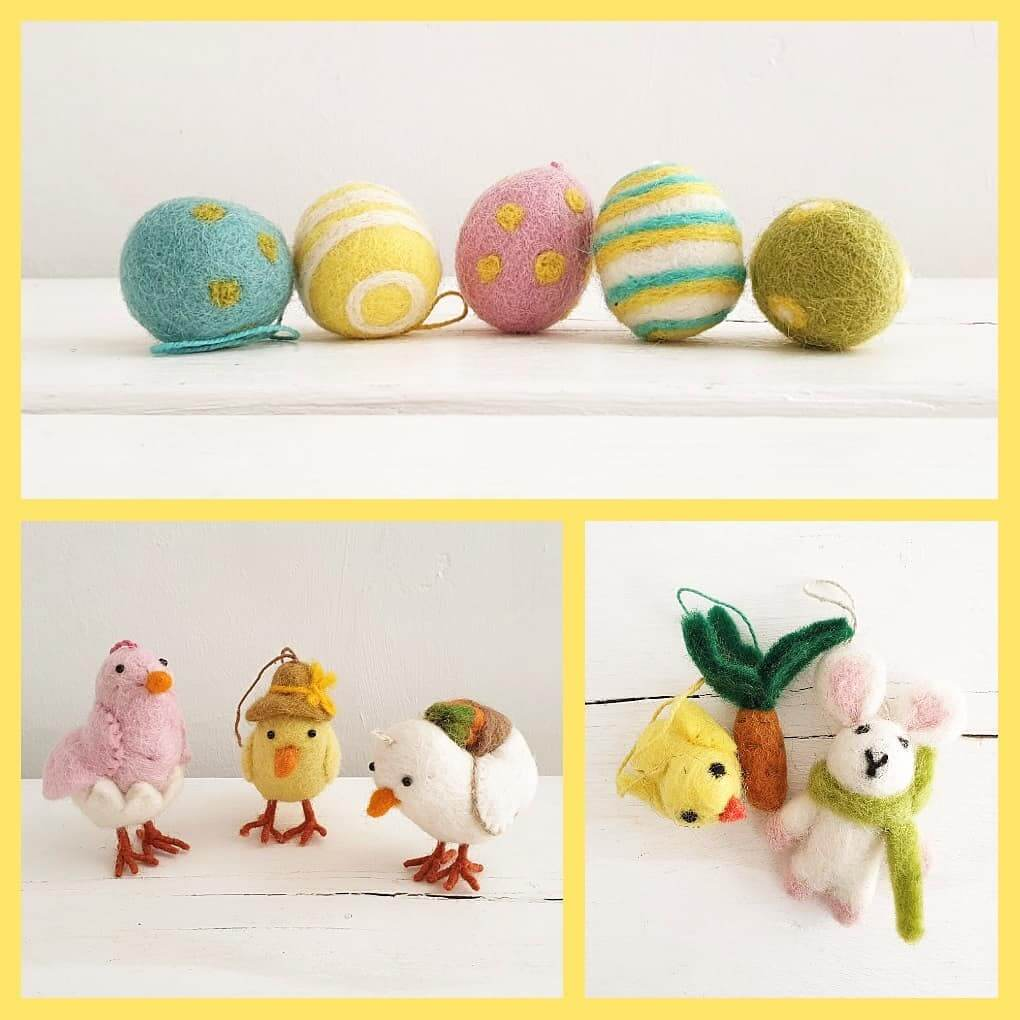 💚 Couldn't resist sharing these GORGEOUS new felt Easter decorations 💚 It's never too early 😉 Available now in store #2020