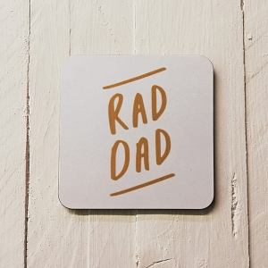 coaster with rad dad print