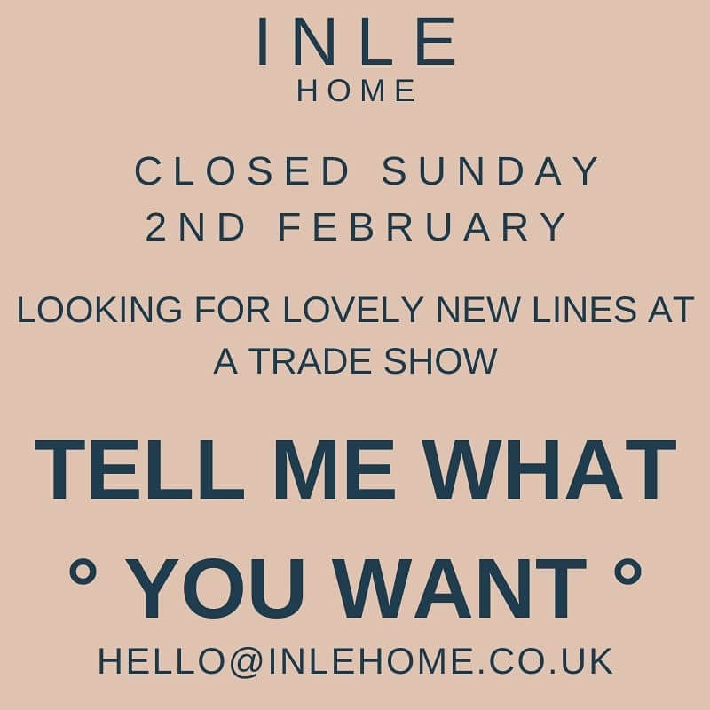 We would love to know what you would like to see at Inle Home! ⬇️ Please Comment Below ⬇️