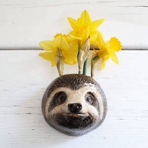 Sloth Wall Vase by Quai Ceramics