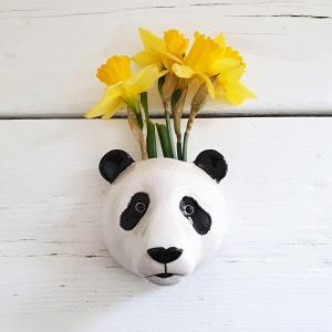 Panda Wall Vase by Quail Ceramics