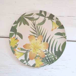 Totally Tropical Bamboo Plate