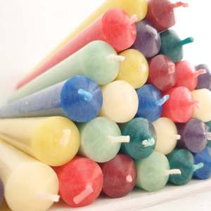 "St. Eval 7/8"" x 10"" Church Dinner Candles in 8 Colours"