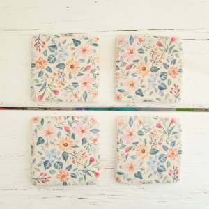 Floral Coasters by Gisela Graham