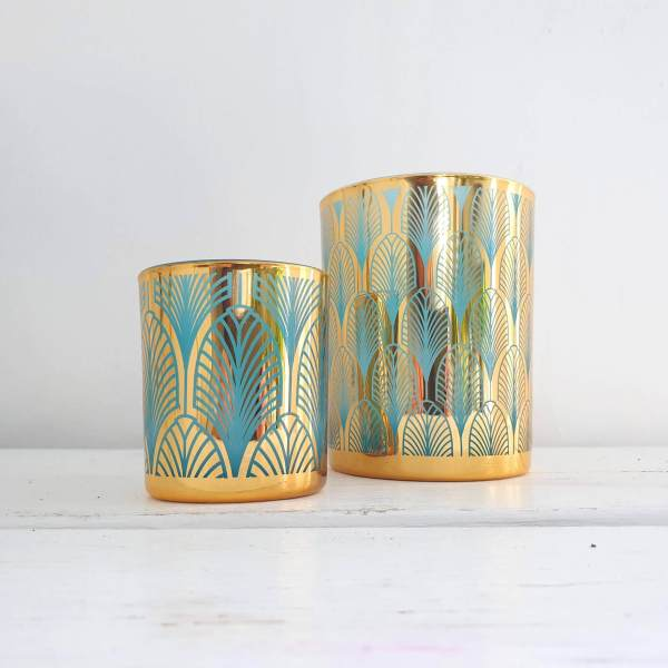 Gold and Turquoise Nite Lites by Gisela Graham
