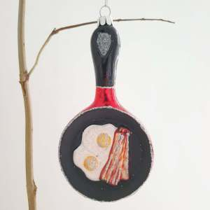Glass Frying Pan Decoration by Gisela Graham